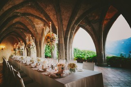 Wedding reception at Villa Cimbrone in Ravello