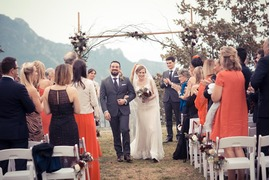 Outdoor civil wedding in Ravello