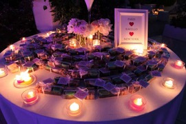 Table with wedding favours at Ravello wedding