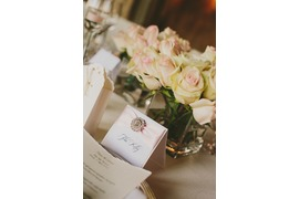Pale pink roses for table decoration