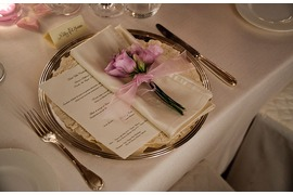Pink rose place card