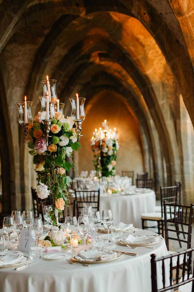 Wedding banquet in an ancient crypt in Ravello