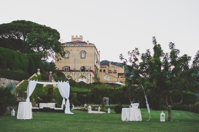 Wedding cocktail at Villa Cimbrone