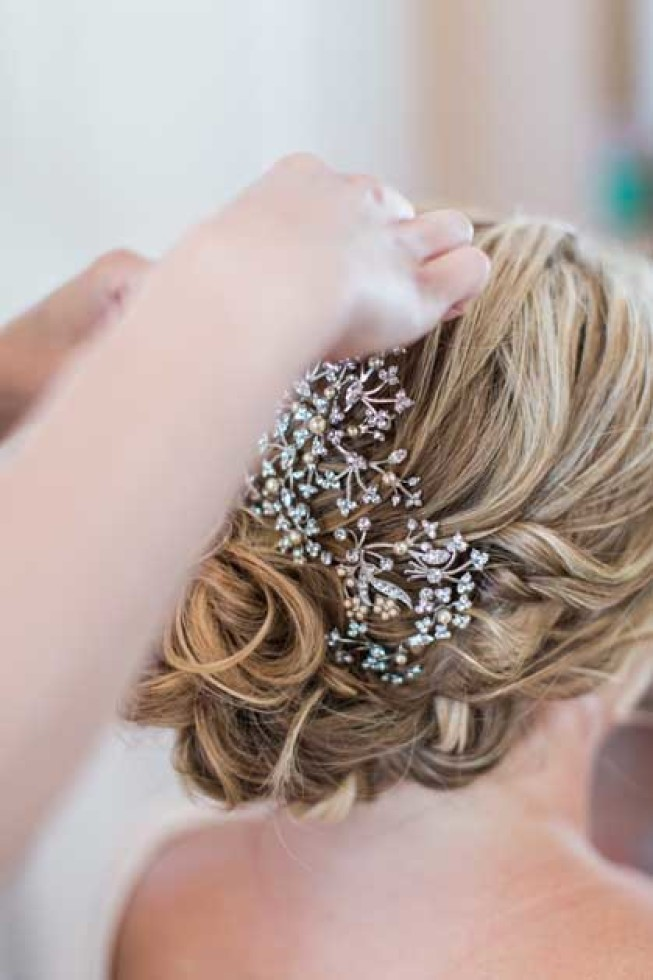 Bridal hairstyle for Capri wedding