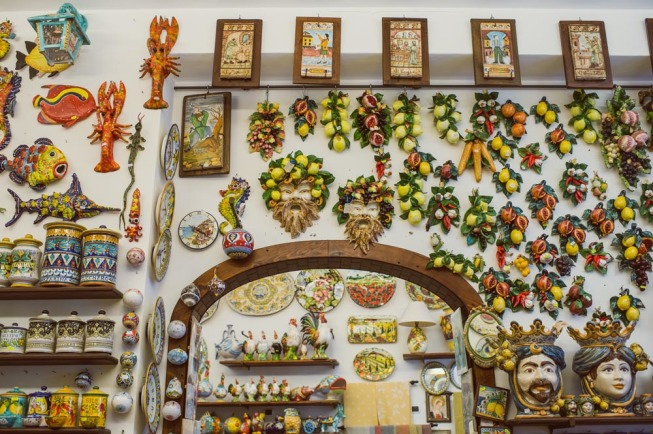 Maiolica shop in Ravello