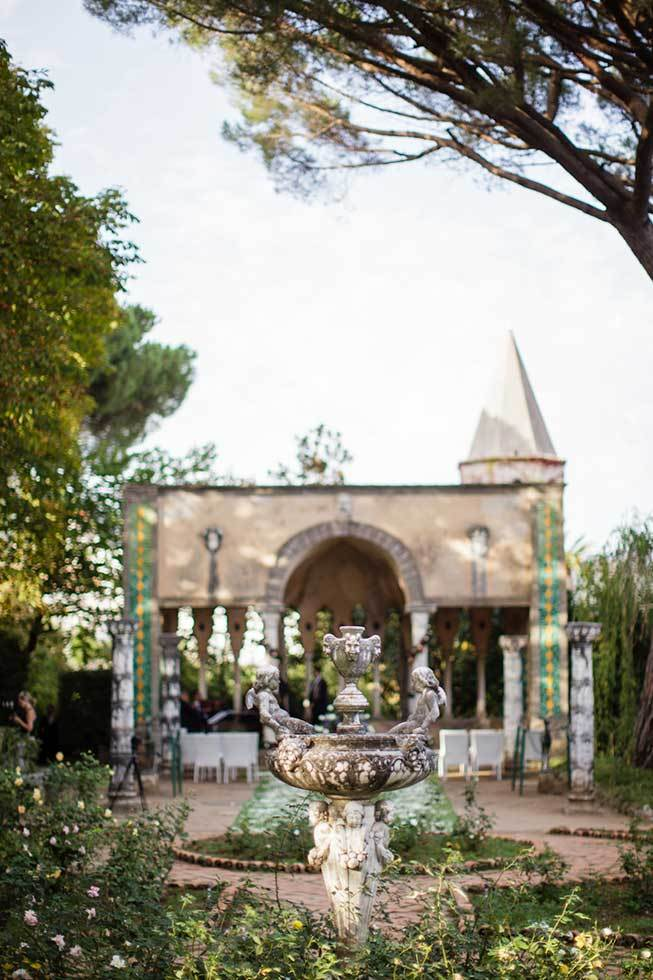 Temple in the gardens of exclusive Villa in Ravello