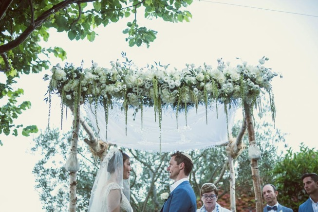 Chuppah for Jewish wedding in Ravello