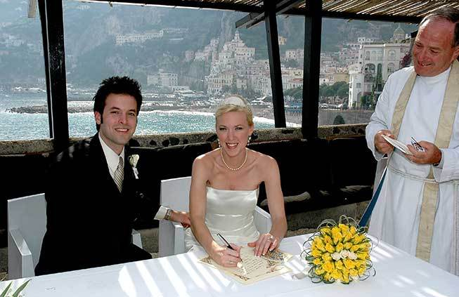 protestant wedding in Amalfi