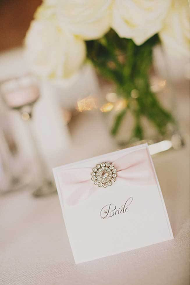 Placecard for wedding reception