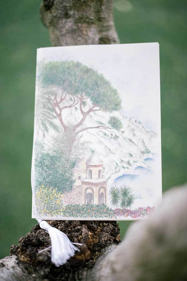 Ravello wedding keepsake