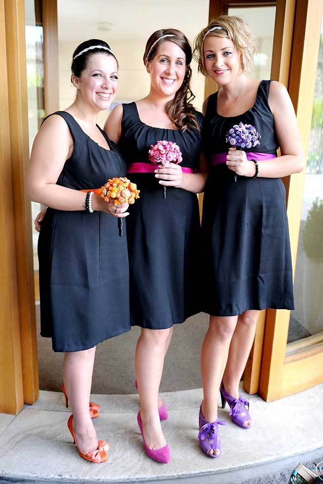 Bridesmaids at a Sorrento wedding