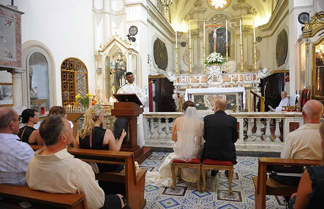 Amalfi protestant wedding