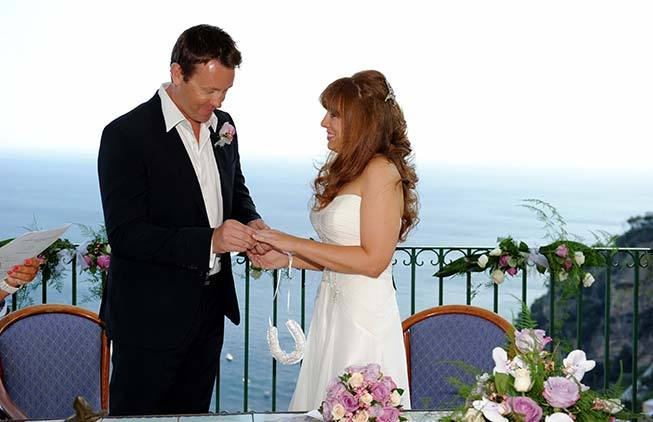 Tiffany and Matthew getting married in Positano