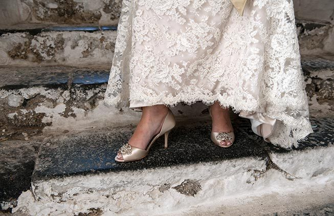 Bridal shoes for Amalfi Coast wedding