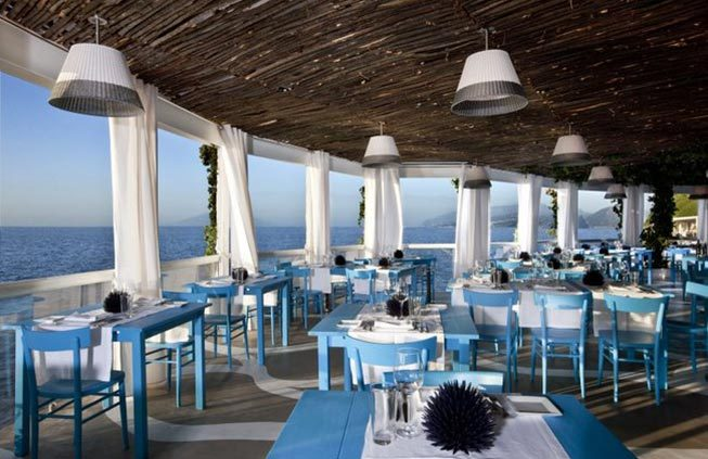 Capri Wedding Reception Beach Club