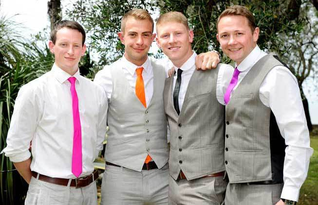 Groom and groomsmen at a Sorrento wedding