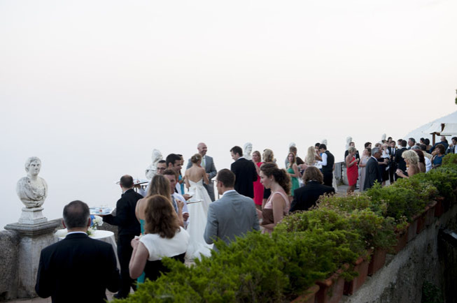 Wedding cocktail on the Terrace of Infinity in Ravello