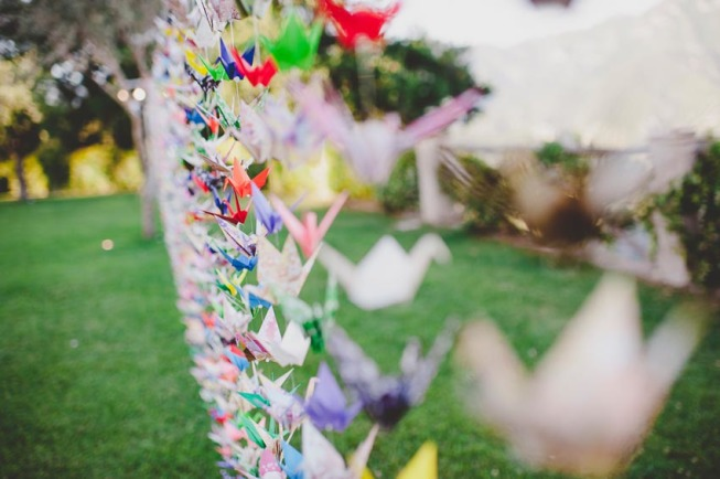 Origami decoration for Ravello wedding