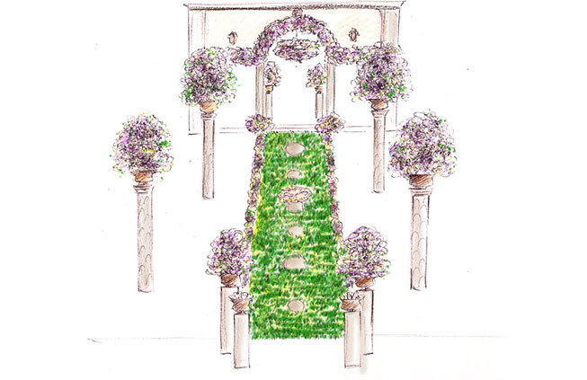 Sketch for floral decoration