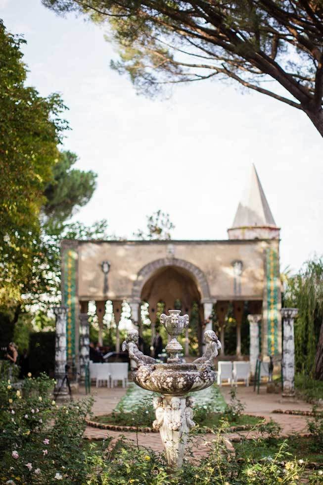 Temple for outdoor ceremonies at Villa Cimbrone in Ravello