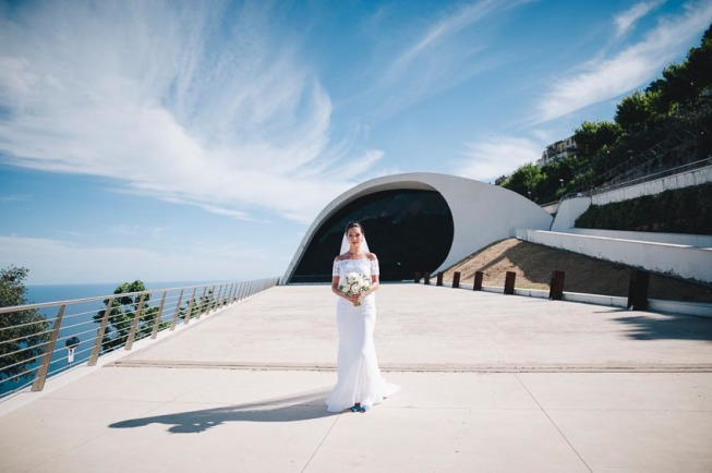 Portrait of the bride in Ravello