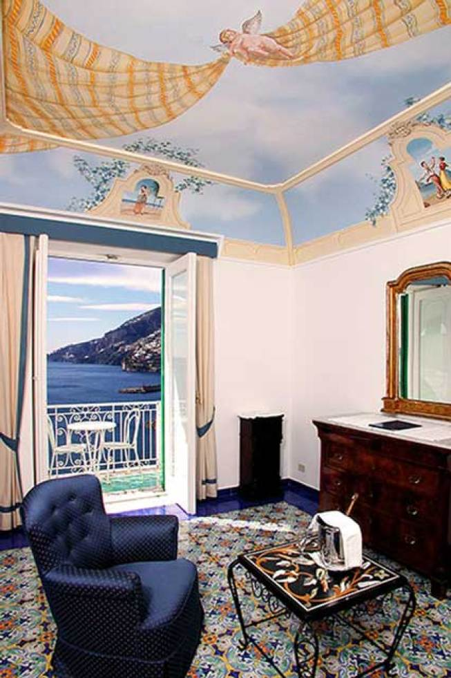 Room in the medieval hotel in Amalfi