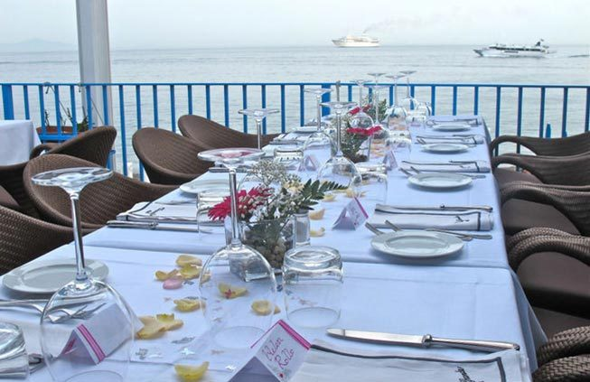 Beach restaurant in Amalfi