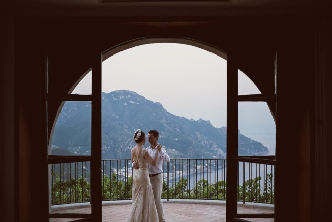Bridal couple in Ravello