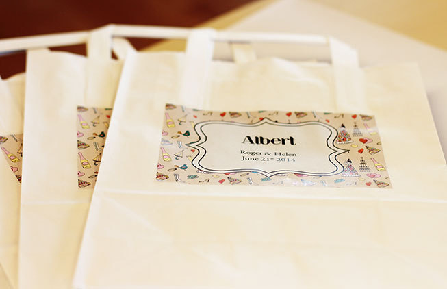 Personalized labels - activity bags for kids