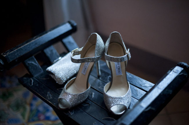 Bridal shoes for Ravello wedding