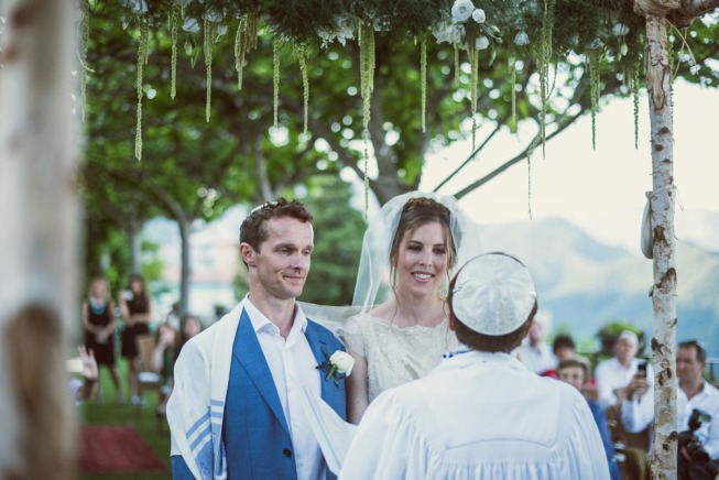 Outdoor Jewish wedding in Ravello