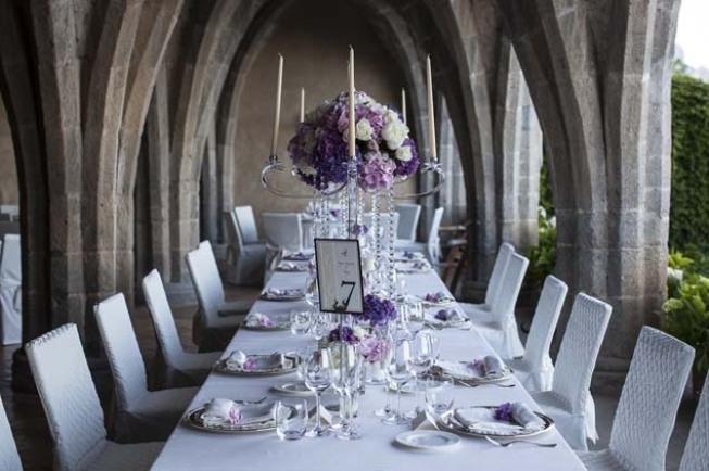 Wedding banquet in the crypt of Villa Cimbrone
