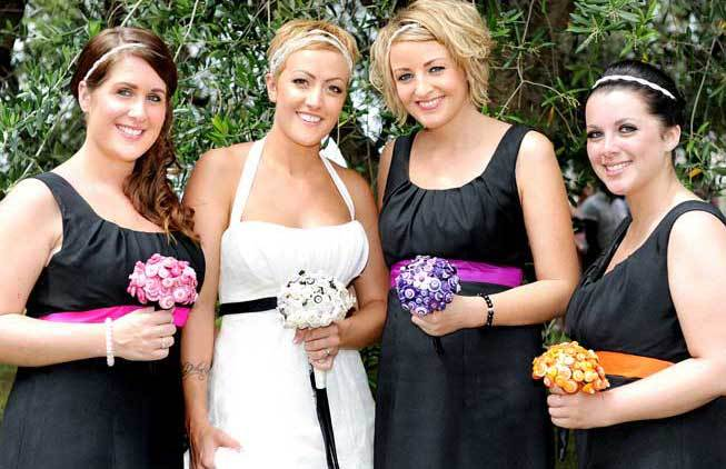 Bride and bridesmaids at a Sorrento wedding