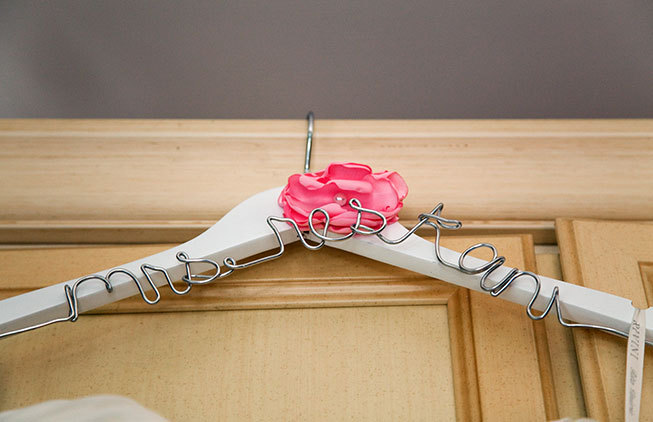 Personalized clothes hanger for Sorrento wedding