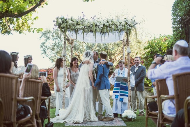 Outdoor Jewish ceremony in Ravello