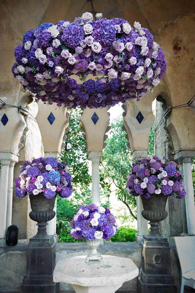 Floral decoration for ceremony in Ravello