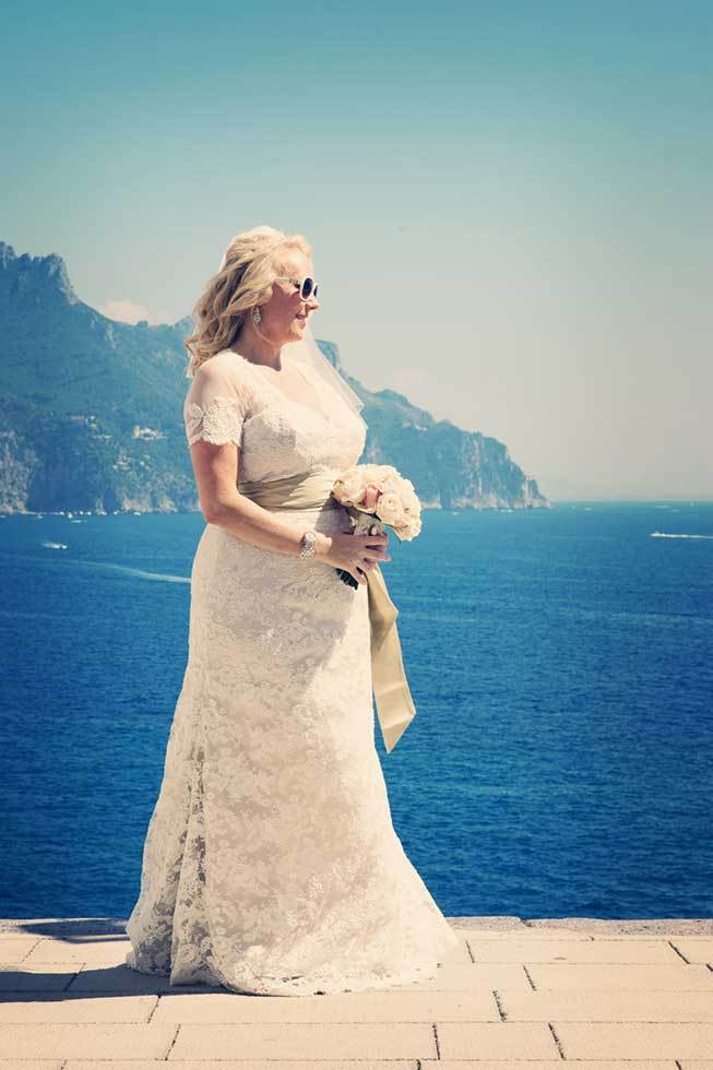 Portrait of a bride in Atrani on the Amalfi Coast